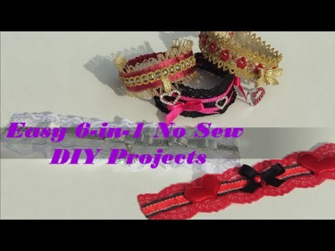 Easy 6 in 1 DIY Projects: Pet Collar, Choker, Garter, Valentine Headpiece, Bridal gift