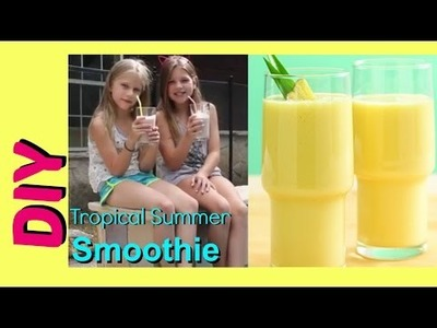 Healthy Snack Idea for Summer | DIY Tropical Summer Smoothie | Jazzy Girl Stuff