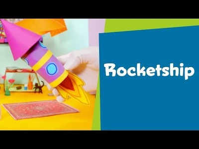 How to Make a Paper Rocketship   DIY Crafts for Kids   SuperHands: Ep 11
