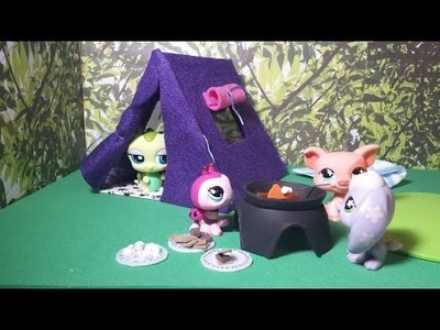 How to Make an LPS Tent PLUS S'mores Food: Doll DIY
