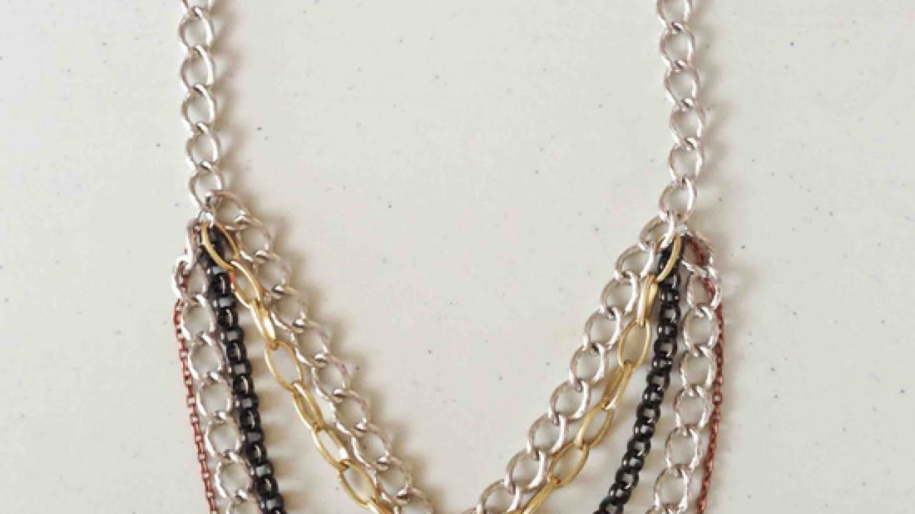 Make a Funky Chain Collar Neck - DIY Style - Guidecentral