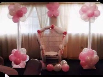 DIY Baby shower chair decoration ideas