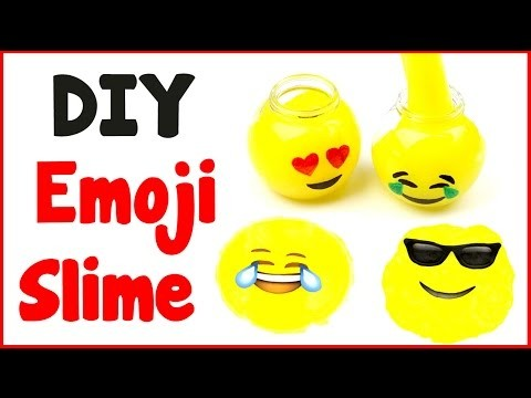 DIY Crafts: How To Make Emoji Slime - DIY Slime with 3 Ingredients!