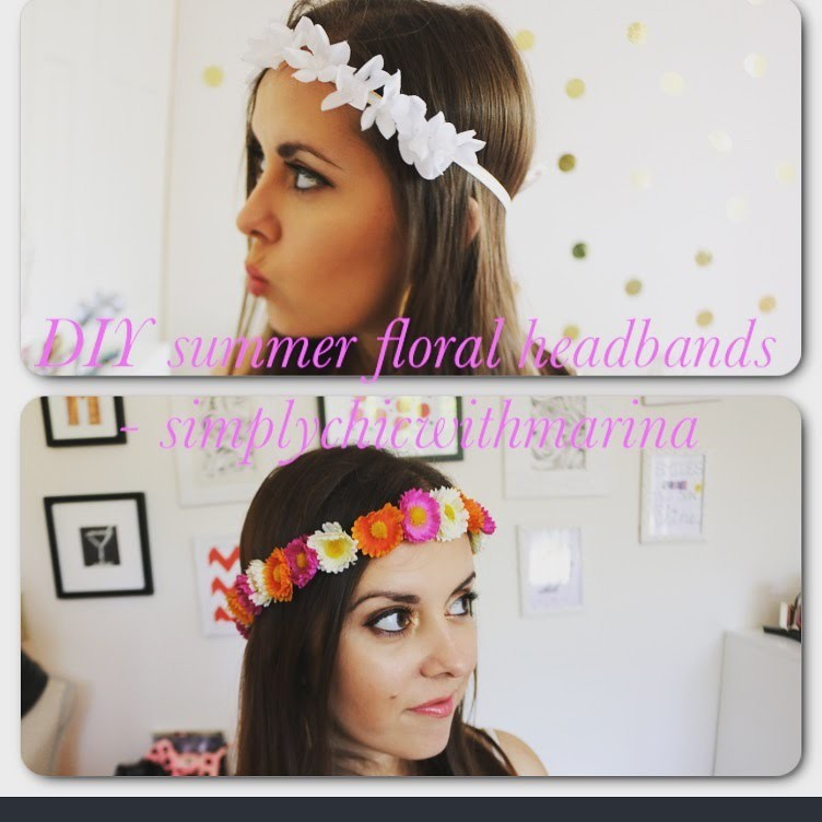 DIY FLORAL SUMMER HEADBANDS