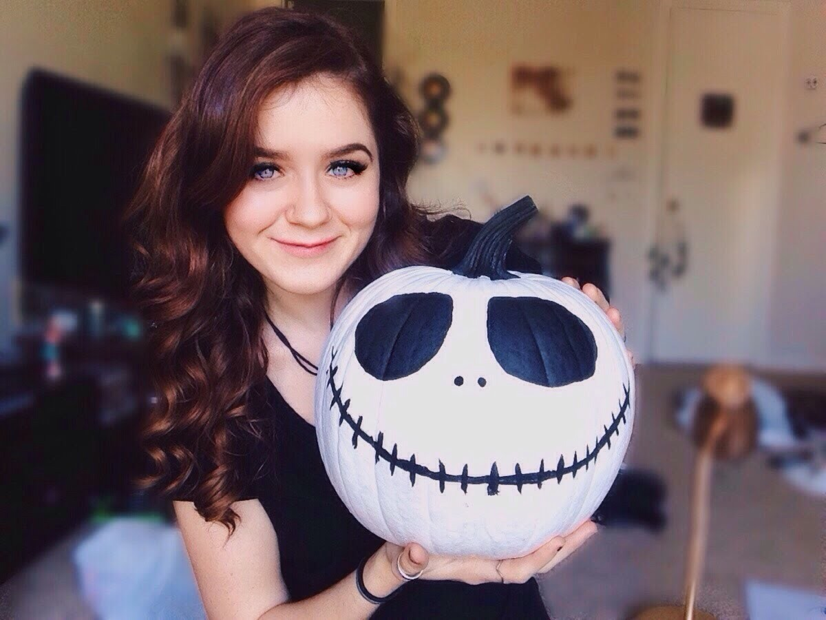 DIY Jack Skellington Pumpkin!