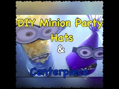 DIY Minion Party Hats & Centerpiece