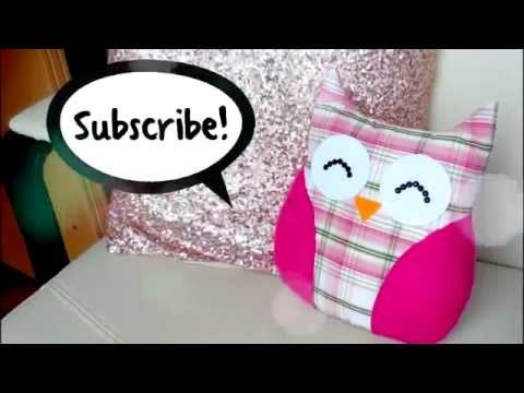 DIY ROOM DECOR ❤ Easy owl Pillow! Sew no sew