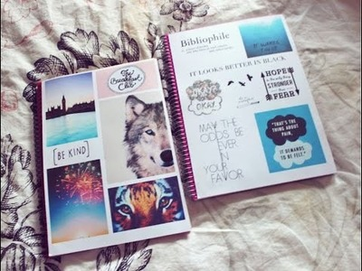 DIY Tumblr Inspired notebooks