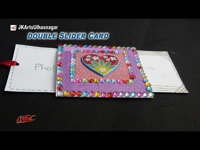 DIY Valentine's Day Love Double Slider Card | How to make | JK Arts 850