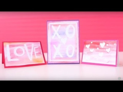 DIY Watercolor Valentine's Day Cards with the Molotow Masking Marker