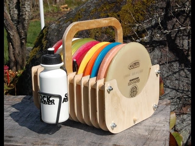 DIY wooden Disc Golf Bag
