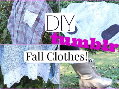 Easy DIY Fall Clothes! Inspired by Tumblr   Chinamere Uzoeshi