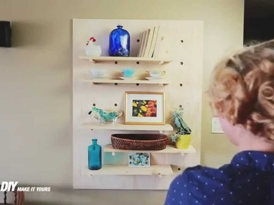 Everything In Its Place: DIY Pegboard