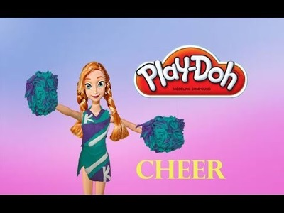 Frozen Play Doh Anna Cheerleader Outfit Tutorial Barbie Play Doh Dress Up Makeover
