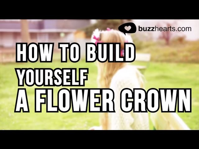How to build a flower crown! - DIY