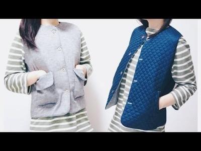 Sewing + Refashion DIY Reversible Vest