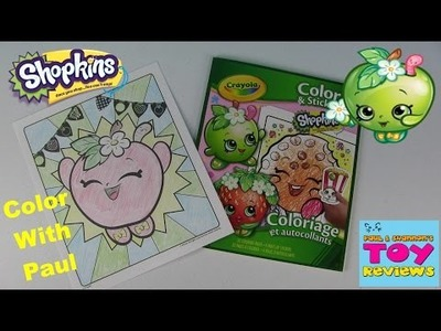 Shopkins Crayola Coloring Page | Apple Blossom DIY | Color With Paul | PSToyReviews