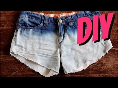 DIY || Bleached Ombre Denim Shorts!!!