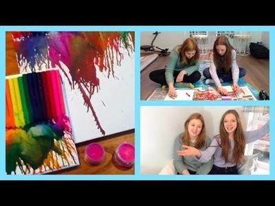 DIY Crayon Lipstick & Canvas W. Charlotte!