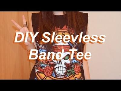 DIY Sleeveless Band tee ✂