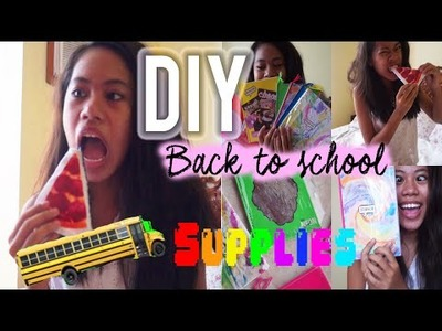 Diy Back to School Supplies!(Diy tie dye notebook,name plates,Pizza coin purse etc.)