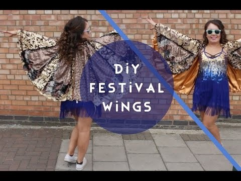 DIY Costume Sequin Bird Wings