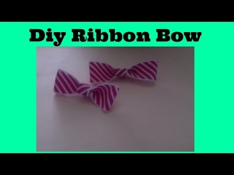 DIY Cute Multi-purpose Ribbon Bow!