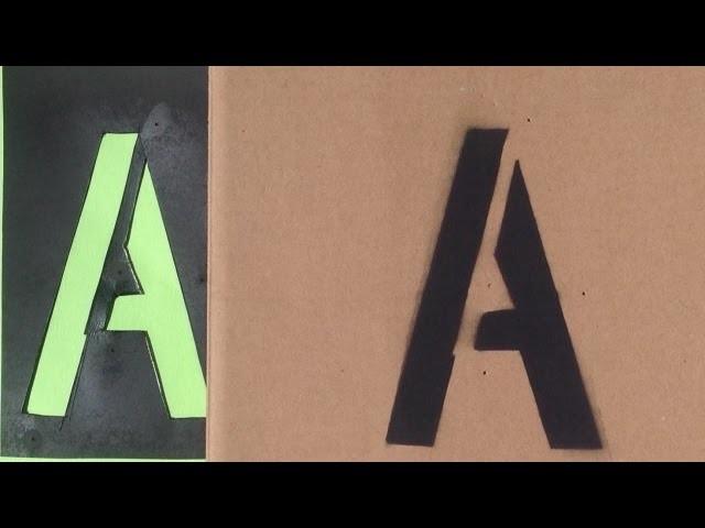 DIY Letter Stencil