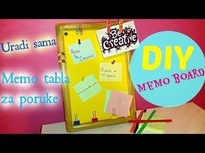 DIY Memo Board. Kako napraviti tablu za poruke.Room Decor.Sobni dekor