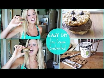 EASY DIY Ice Cream Sandwiches! {high protein, low carb}