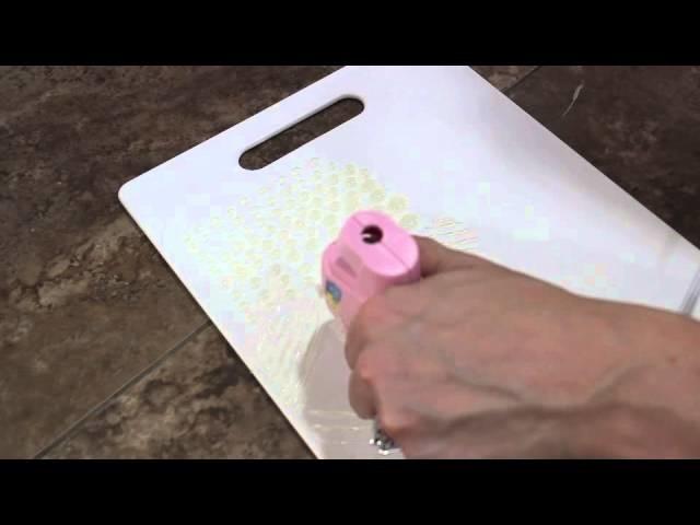 DIY:Makeup brush cleaning board
