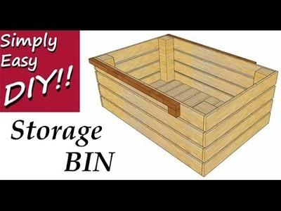 DIY Storage Bins