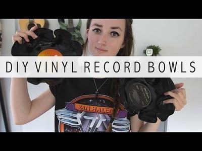 DIY vinyl record bowls   Emmelie Herwegh