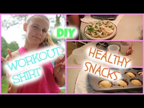 DIY Workout Shirt & Healthy Snacks!