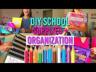 Diy school supplies & organization ideas!