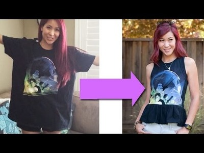 Geek Chic DIY - How to turn a Giant T-Shirt into a Peplum Top (Tutorial)