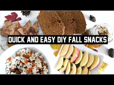 QUICK & EASY DIY FALL FOOD SNACKS + PARTY TREATS!!