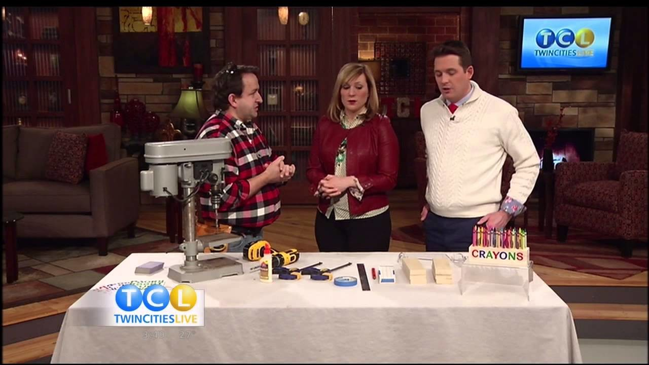 A DIY Crayon Holder on Twin Cities Live