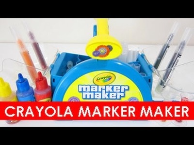CRAYOLA MARKER MAKER Play Set! Make Your Own Makers Easy DIY Kit With DisneyCarToys