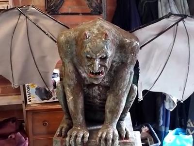 DIY Anamatronic Halloween Gargoyle prop 2014 prototype