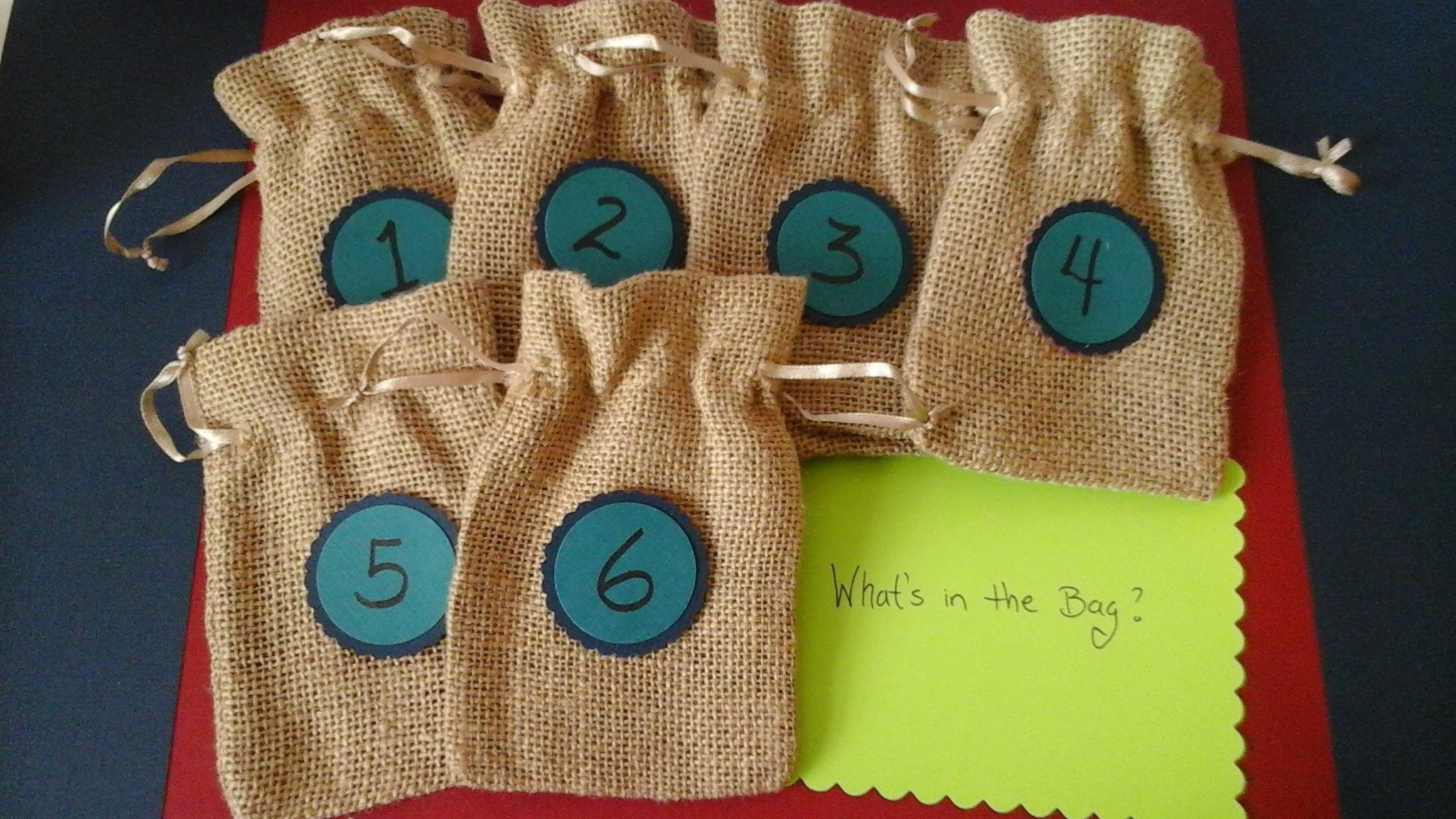DIY Baby Shower Games - Mystery baby items game