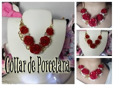 DIY COLLAR DE PORCELANA FACIL DE HACER