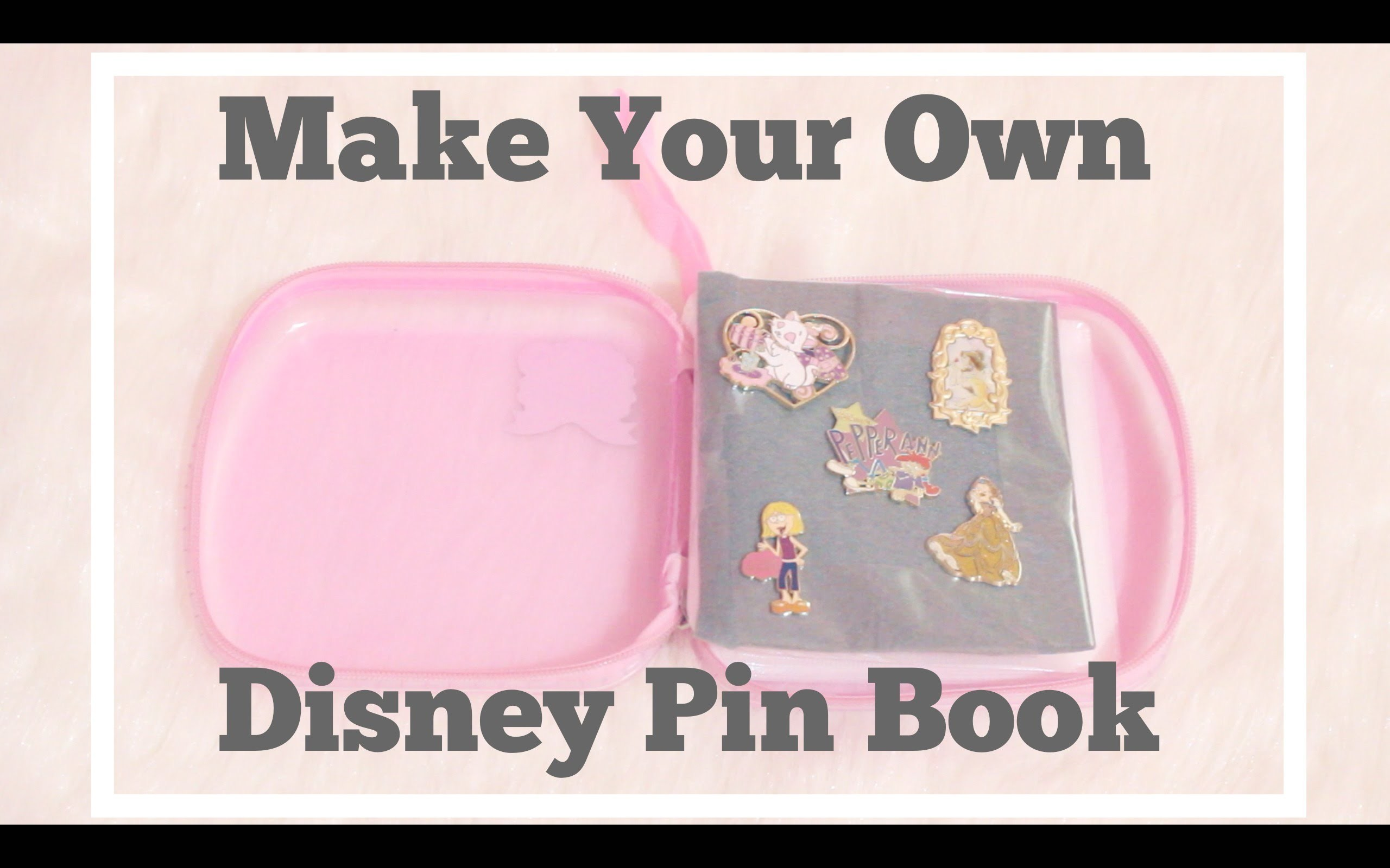 DIY: Easy Pin Book for Disney Pins