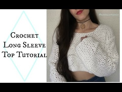 DIY Long Sleeve Crochet Top pt 2