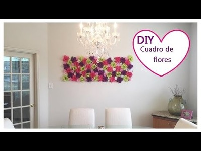 DIY, Room Decor, cuadro de flores