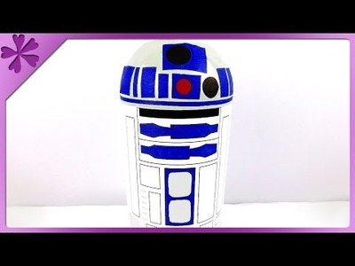 DIY Star Wars R2D2 piggy bank (ENG Subtitles) - Speed up #178