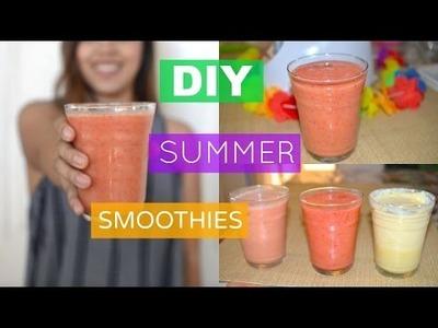 DIY Summer Smoothies | Nathaly Juarez