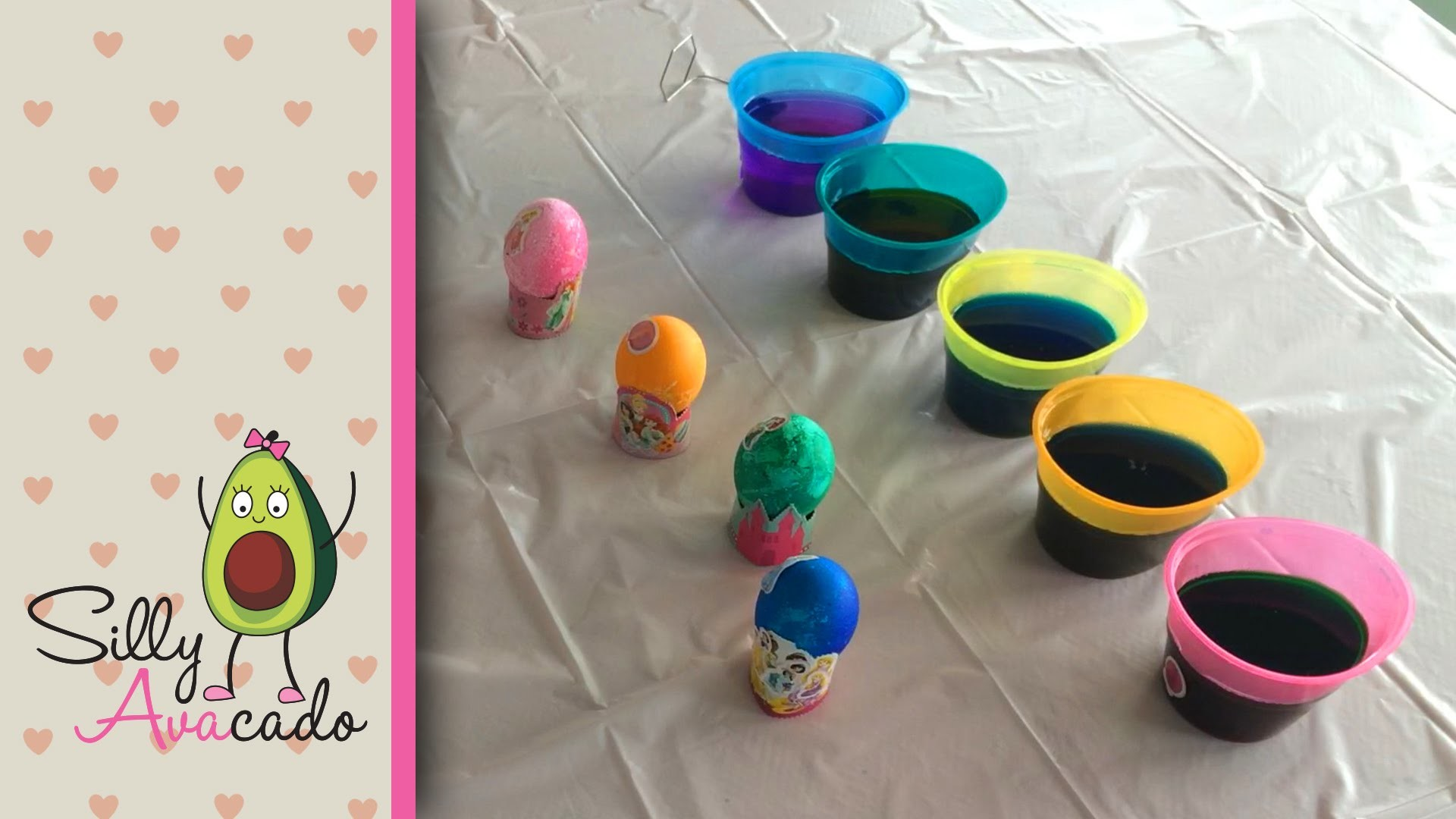 How to Dye Disney Princess Easter Eggs! How to Make Eggs! DIY Coloring! Disney Princess Stickers!