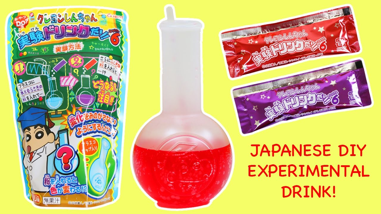 Japanese Experimental Candy Drink Kit Fun & Easy DIY Pretend to be a Chemist!