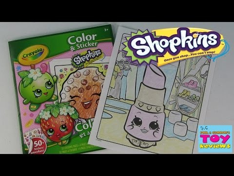Shopkins Crayola Coloring Page | Lippy Lips DIY | Color With Paul | PSToyReviews